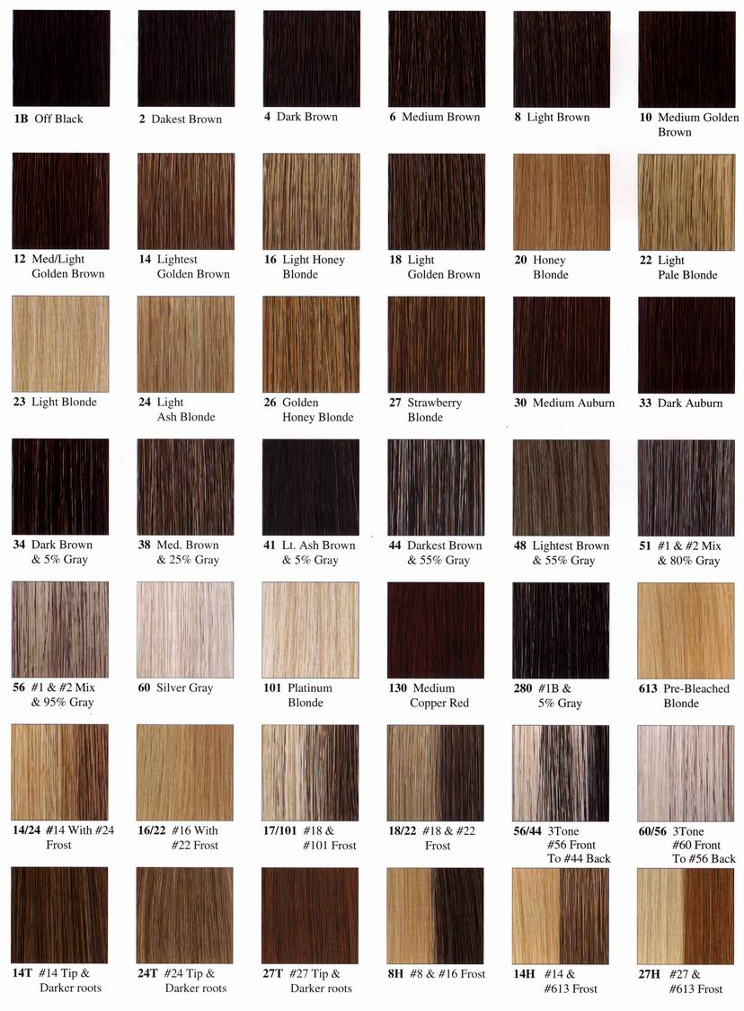 Trends Hairstyle 2012 Hair Color Chart